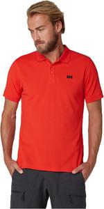 2019 Helly Hansen Driftline Polo Shirt Alert Rojo 50584
