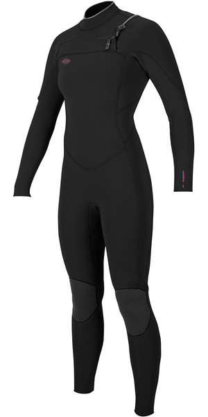 2018 O'Neill Womens Hyperfreak 5/4mm Chest Zip GBS Wetsuit BLACK 5076