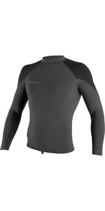 2019 O'Neill Mens Reactor II 1.5mm Neoprene Long Sleeve Top Graphite / Black / Ocean 5080
