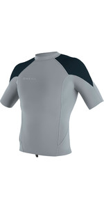 2019 O'Neill Mens Reactor II 1mm Neoprene Short Sleeve Top Cool Grey / Slate / Ocean 5081