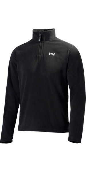 2018 Helly Hansen Herren Daybreaker 1/2 Zip Fleece Schwarz 50844