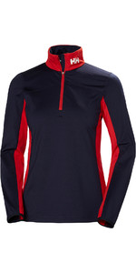 2019 Helly Hansen Womens Phantom 1/2 Zip 2.0 Navy / Red 51813