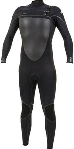 2019 O'neill Psycho Tech 4/3mm Traje De Neopreno Con Chest Zip Negro 5337