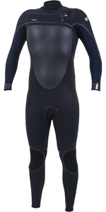 2019 O'Neill Mens Psycho Tech 4/3mm Chest Zip Wetsuit 5337 - Black / Abyss
