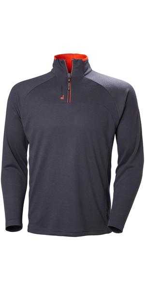 2019 Helly Hansen 1/2 Zip Technischer Pullover Graphite Blue 54213