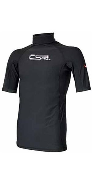 CSR Plamo Polypro Short Sleeve Rash Vest BLACK 5790