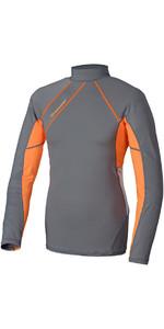 Crewsaver Junior Phase 2 Lange Mouw Rash Vest Grijs / Oranje 6910