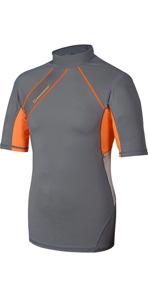 Crewsaver Junior Phase 2 SHORT Sleeve Rash Vest Grigio / Arancione 6911