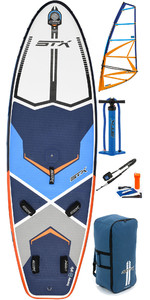 2019 STX Inflable Windsurf 280 Stand Up Paddle Board y HD2 5.5M Rig Package Blue / Orange 70635