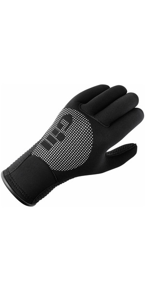2019 guantes de invierno de neopreno Gill Junior 3 mm en NEGRO 7672J