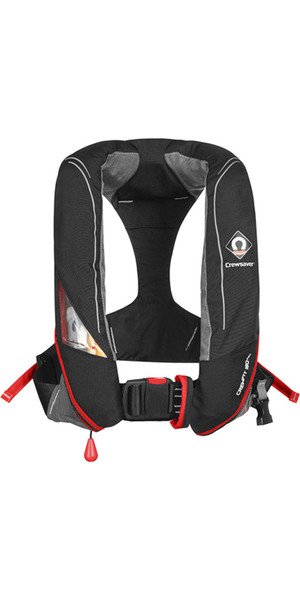 2019 Crewsaver Crewfit 180N Pro Manual Redningsvest Black / Red 9020BRM