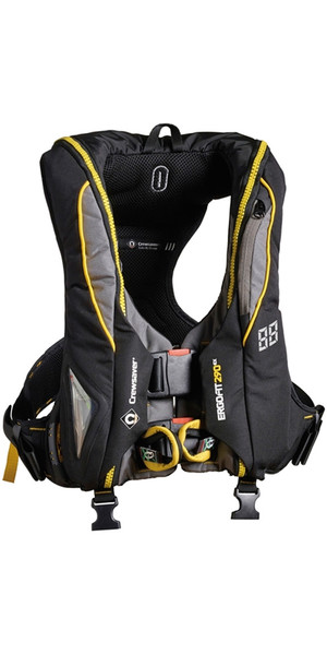 2018 Crewsaver ErgoFit 290N Extreme Lifejacket Hammar Harness Light Hood 9145-BKHP