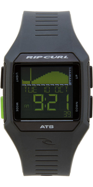 2018 Rip Curl Rifles Mid Tide Orologio da surf Black / Green A1124
