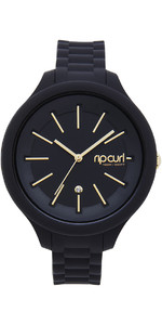 2019 Rip Curl Alana Horizon Silicone Surf Watch BLACK A2822G