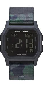 2019 Rip Curl Mannen Atom Spanband Digitaal Horloge Camo A3087