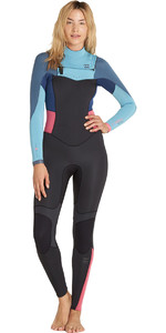 Billabong Das Mulheres 3/2mm Synergy Chest Zip F43g11 Wetsuit Agave