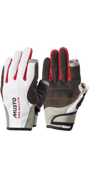 Musto Essential Vela guanti lunghi dita in bianco AS0803