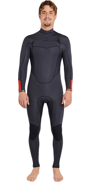 2018 Billabong Absolute Comp 3 / 2mm Chest Zip Traje de neopreno ASPHALT F43M21