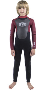 Animal Junior Boys Lava 5/4/3mm GBS Back Zip Wetsuit Biking Red AW8WN600