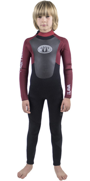 2018 Animal Junior Boys Lava 5/4 / 3mm GBS Racetrack Wetsuit Mountainbiken Rood AW8WN600