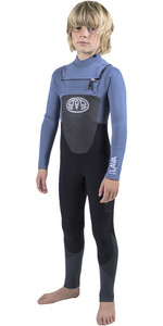 Animal Junior Boys Lava 5/4 / 3mm GBS Bryst Zip Wetsuit Tin Blue AW8WN604
