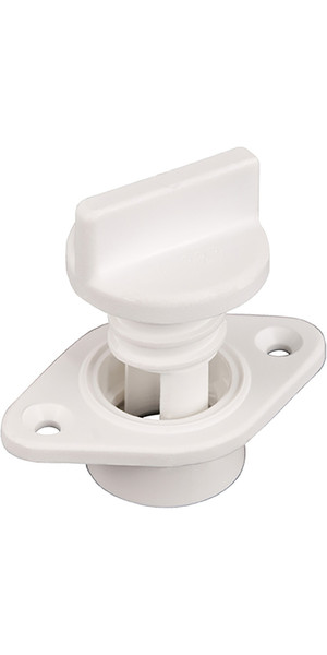 Allen Brothers Drain Socket med Captive Screw Bung White A323