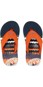 2018 Animal Junior Boys Jekyl Logo Flip Flops DUNKEL NAVY FM8SN600