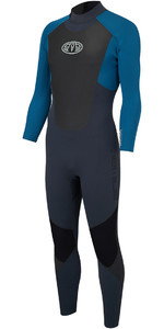 Animal Lava 3/2mm GBS Back Zip Wetsuit Marina Blue AW8SN101