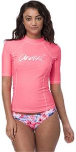 2018 Animal Damen Vickie Kurzarm UV50 Rash Vest Neon Orange CL8SN343