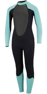 2018 Animal Junior Girls Nova 3/2mm Back Zip Flatlock Wetsuit Black AW8SN800