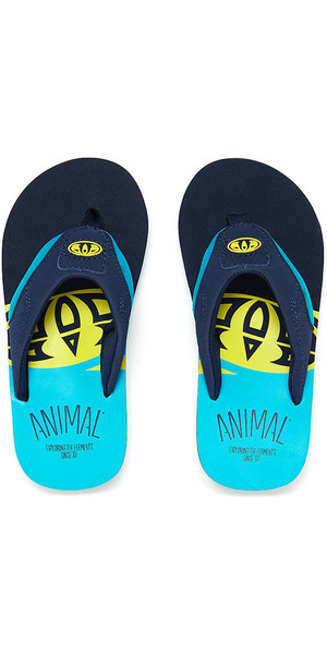 2018 Animal Jekyl Slice Junior Boys Flip Flops Bluebird Blau FM8SN601