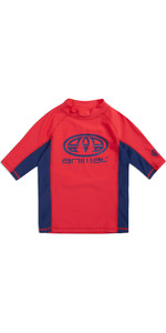 2019 Animal Junior Boys Hiltern Short Sleeve Rash Vest Tomato Red CL9SQ610