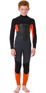 2019 Animal Júnior Meninos Lava 4 / 3mm GBS Peito Zip Wetsuit Grafite AW9SQ600