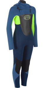 2019 Animal Junior Boy's Lava 5/4 5/4/3mm Gbs Chest Zip Wetsuit Navy Aw9wq600