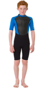 2020 Animal Junior Boy's Nova 3/2mm Back Zip Shorty Wetsuit Aw0ss603 - Preto