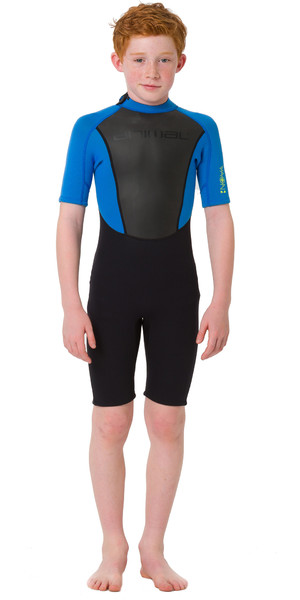 2019 Animal Junior Boys Nova 3/2mm Flatlock Shorty Wetsuit Black AW9SQ603
