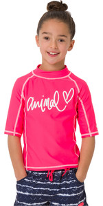2019 Animal Junior Girls Molli manica corta Rash Vest Psycho Red CL9SQ810