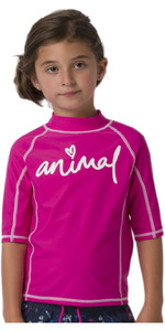2020 Animal Junior Girl's Molli Kortærmet Udslæt Vest Cl0ss812 - Hindbær Rose Pink