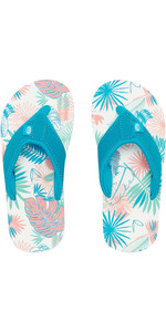 2019 Meninas Júnior Animal Swish AOP Flip Flops Rosa Falsa FM9SQ802