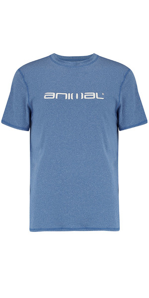2018 Animal Latero Kurzarm UV Schutz T-Shirt Schnorchel Blau CL8SN022