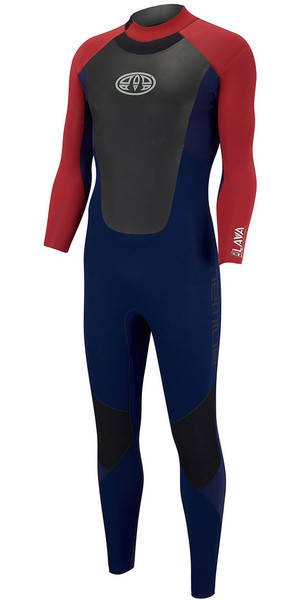 2018 Animal Lava 4 / 3mm GBS back Zip Wetsuit Dark Navy AW8SN104