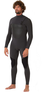 2019 Animal Mens ANML 3 / 2mm Chest Zip Wetsuit Graphite grigio AW9SQ001