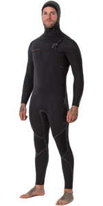Animal Mens Assassino V2 6 / 4mm Com Capuz GBS Peito Zip Wetsuit Preto AW8WN101