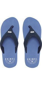 2019 Animal Mens Bazil Flip Flops Lethal Blue FM9SQ005