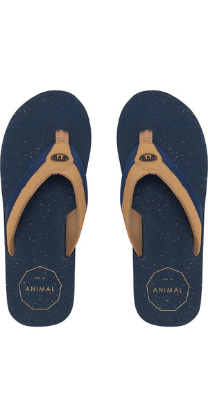 2019 Animal Mens Huxley Flip Flops Dark Navy FM9SQ012