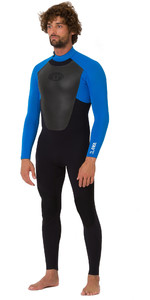 2019 Animal Mens Lava 3 / 2mm Back Zip GBS Wetsuit zwart AW9SQ007
