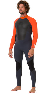 2019 Animal Mens Lava 5/4/3mm Back Zip GBS Wetsuit Graphite AW9SQ003