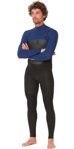 2019 Animal Mens Lava 4/3mm Chest Zip GBS Wetsuit Black / Navy AW9WQ005