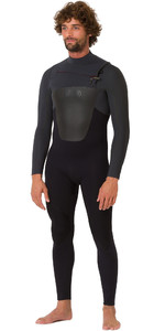 2019 Animal Mens Lava 5/4 / 3mm GBS Chest Zip Wetsuit nero AW9SQ002