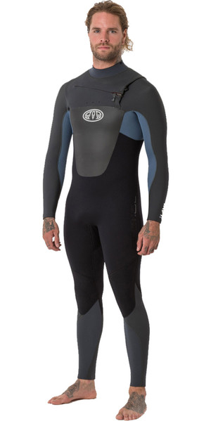 2018 Animal Mens Lava 5/4 / 3mm Borst Zip GBS Wetsuit Pewter Blauw AW8WN107